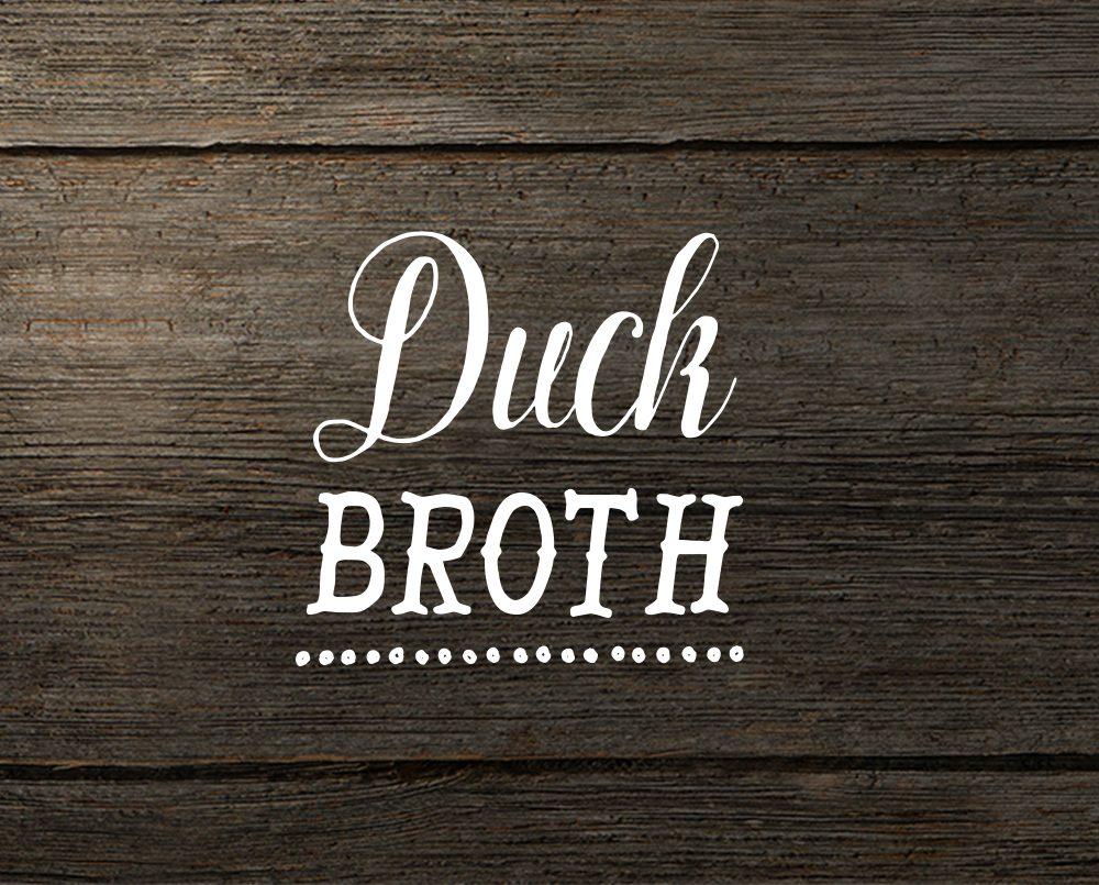 Muscovy duck broth