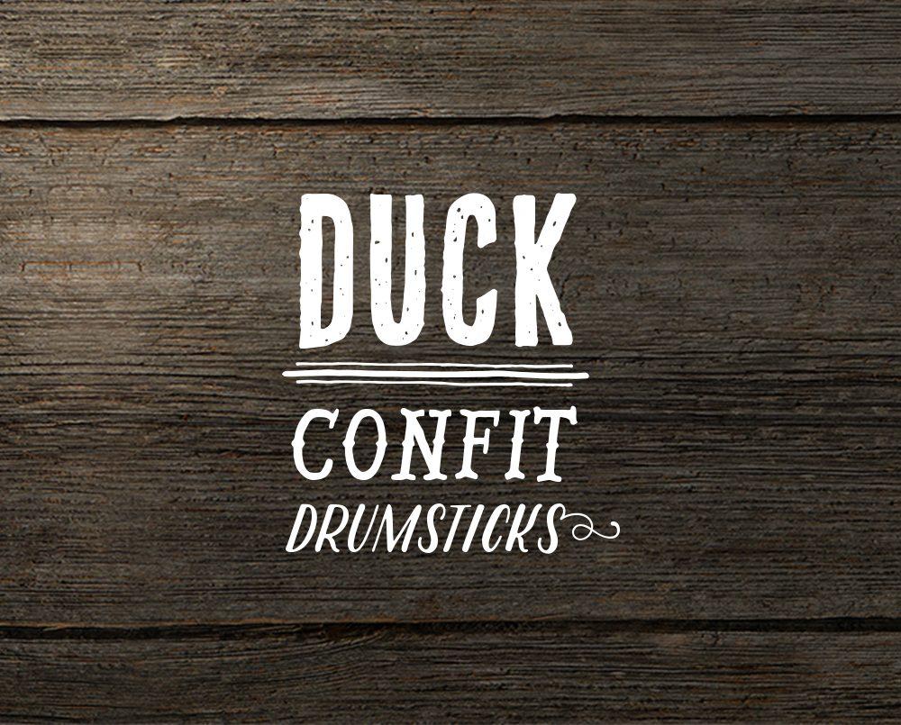 Muscovy duck confit drumsticks