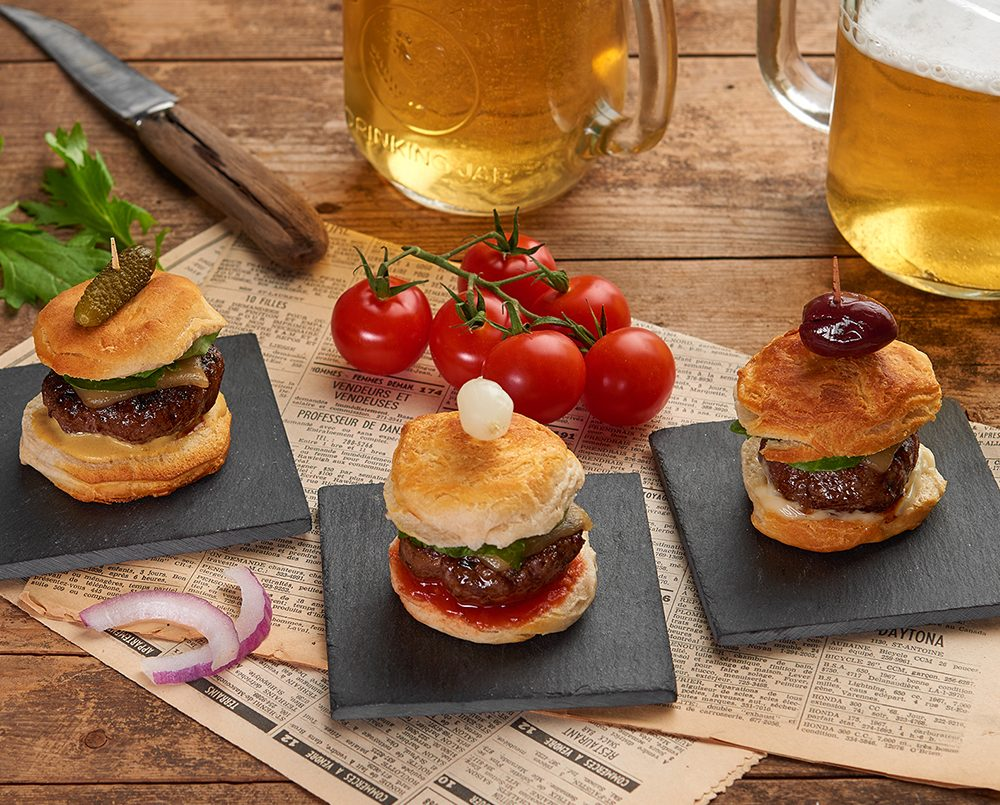 Muscovy duck mini-burger